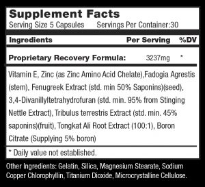 PostCT Supplement Facts